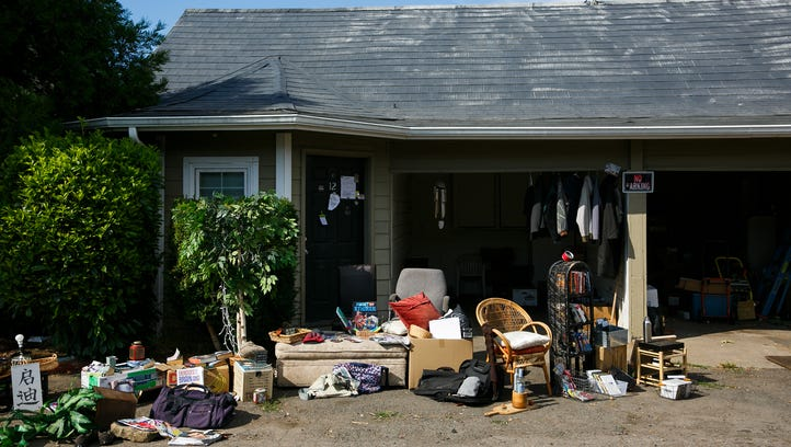 A moving sale is being held at apartments located at