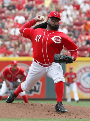 Reds starting pitcher Johnny Cueto has thrown more than 100 pitches in 16 of his 20 starts. Ten times, he's gone over 110. That's a lot in today's baseball.