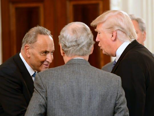 President Trump welcomes Senate Minority Leader Chuck