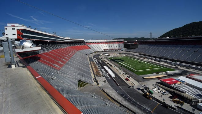Scenes from Bristol Motor Speedway on Monday as preparations continue for the Pilot Flying J Battle at Bristol.