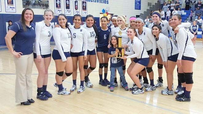 The Silver High volleyball team cruised through District 3-4A and won a title. The Lady Colts are in Rio Rancho at the Class 4A state tourney and are seeded fourth in the three-day event.