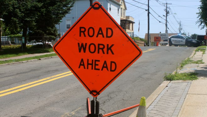 File photo of road construction sign.
