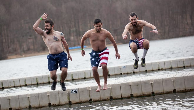 """Hundreds participate in the """"Freezin for a Reason"""" Polar Plunge at The Fresh Air Fund's Sharpe Reservation in Fishkill, Feb. 25, 2017."""