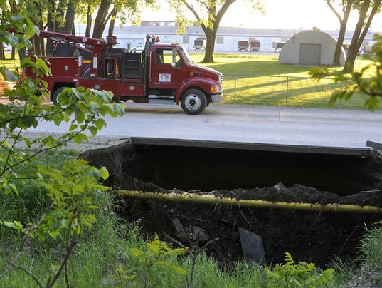 fort dodge sinkhole forces closure of street. Cars Review. Best American Auto & Cars Review