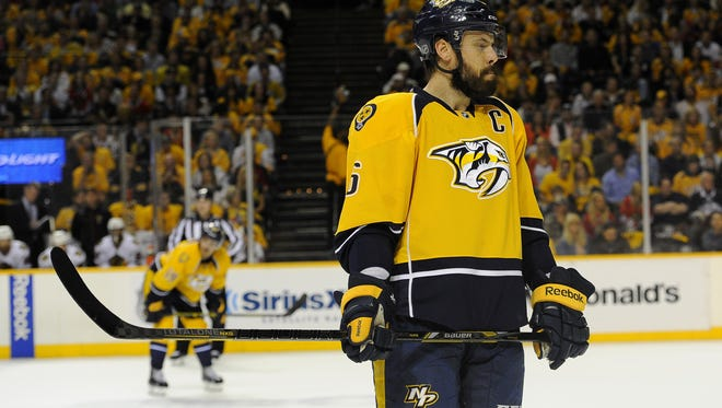 Defenseman Shea Weber has missed the past three games with a lower-body injury.