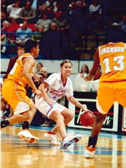 Brooke Stoehr during her playing days as a Lady Techster.