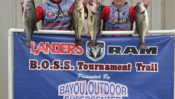 Terry Burghart and Jeff Holder won the first Landers/Ram BOSS event of 2017 on Black Lake-Campti.