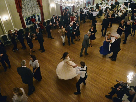 Emily and Aaron House of Manheim Township dance together