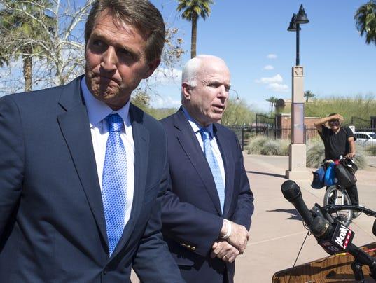 U.S. Sens. John McCain and Jeff Flake