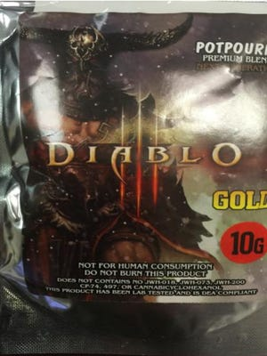 "A packet of synthetic marijuana branded ""Diablo"" was seized from a convenience store in York last year, the York County Drug Task Force said."