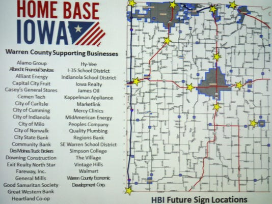 Warren County Iowa Map.Warren County Named Home Base Iowa Community