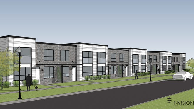 The Neighborhood Development Corp. plans to build a 16-unit development called Madison Terrace Townhouses on South Union Street. It's one of up to six housing and commercial developments the nonprofit plans to build on Des Moines' south side.