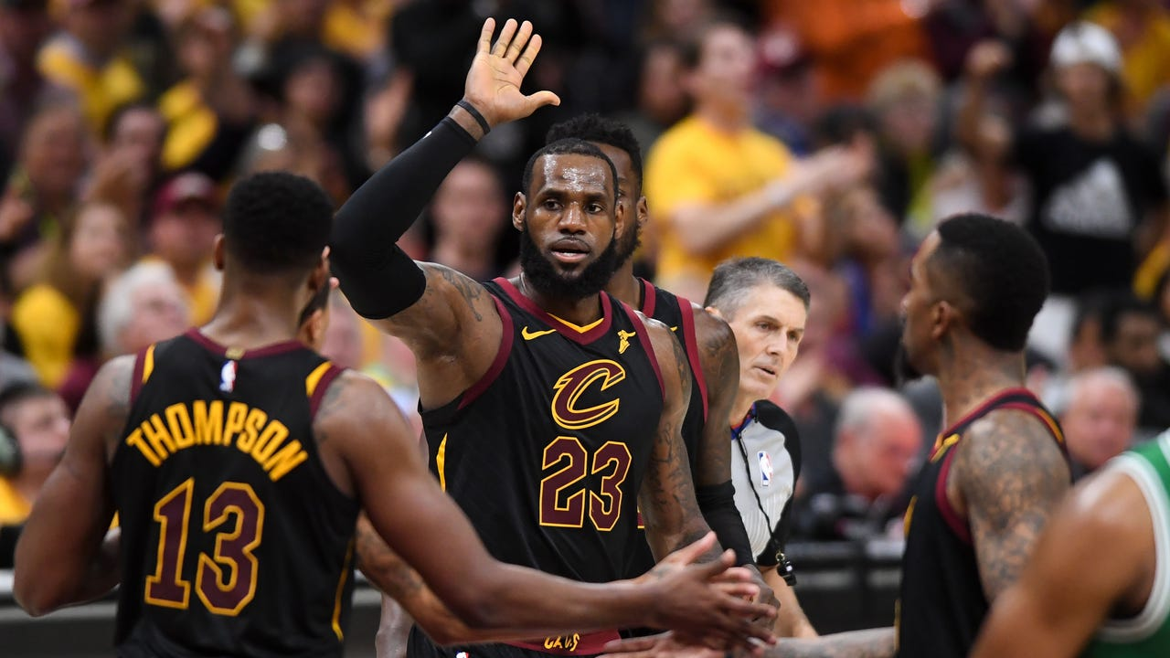 ccecac13a11b LeBron James scores 44 as Cavs hold off feisty Celtics to even series 2-2