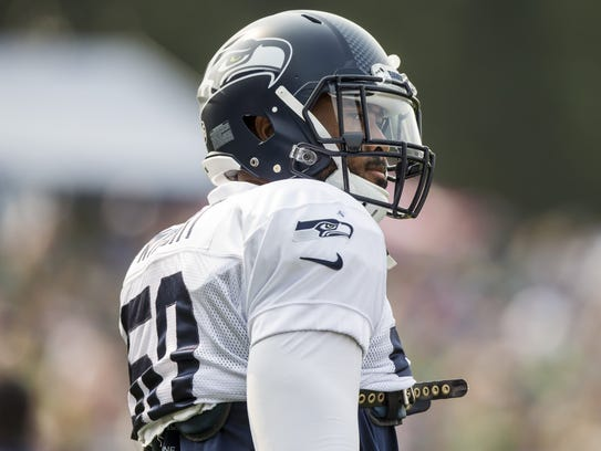 Linebacker K.J. Wright is one of seven Seahawks who
