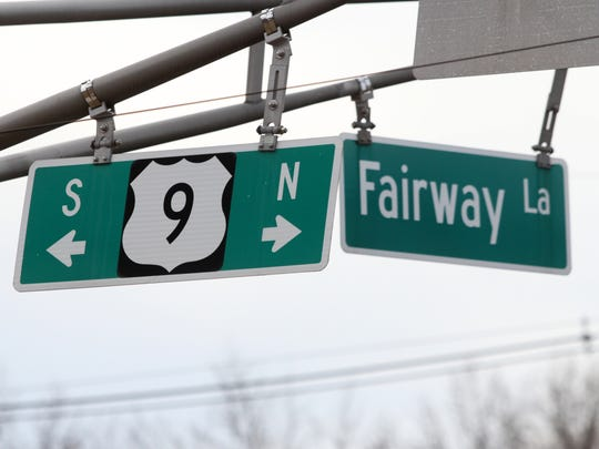Intersection of Route 9 and Fairway Lane in Old Bridge.
