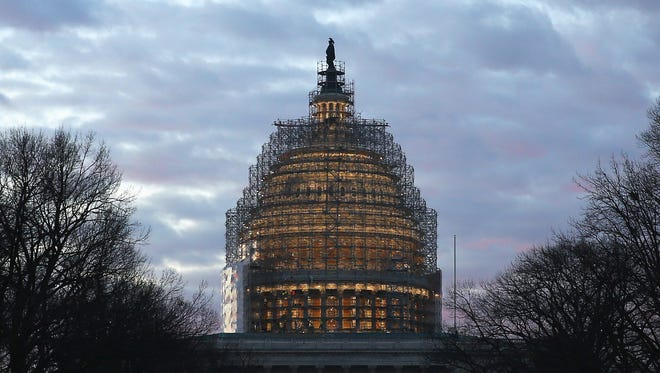 The U.S Capitol building in January.