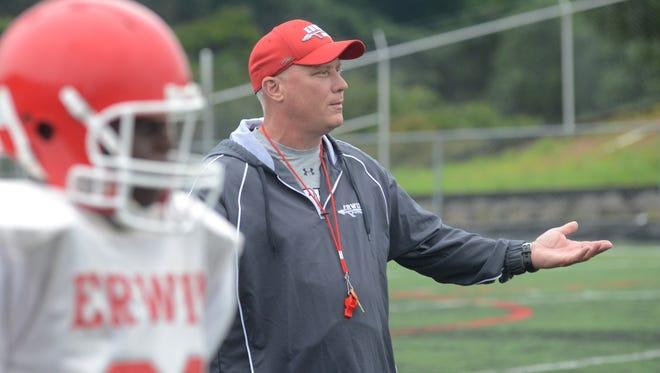 Erwin and coach Mike Sexton host Mountain Heritage on Friday in a nonconference football game for both schools.