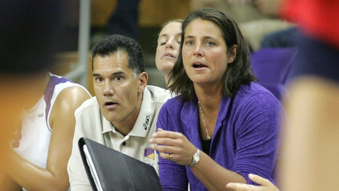 Northern Iowa volleyball coach Bobbi Petersen, right, has signed two recruits for next season.