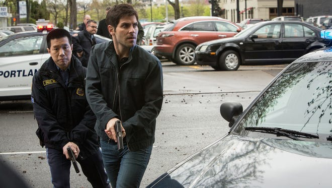 "Reggie Lee, left, and David Giuntoli in a scene from NBC's ""Grimm,"" which is filmed in Portland, Ore. Oregon just increased its film tax incentive program to $10 million from $6 million."