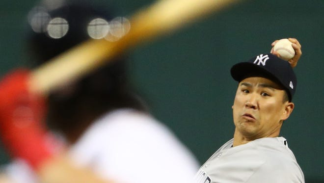 Masahiro Tanaka and the Yankees had good reason to be careful with their pitches in games at Fenway Park.