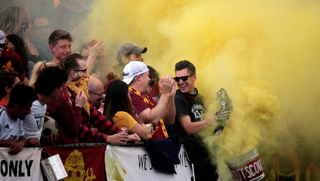 Detroit City FC battled AFC Ann Arbor to a 1-1 draw at Keyworth Stadium in Hamtramck on Friday, May 20, 2016.
