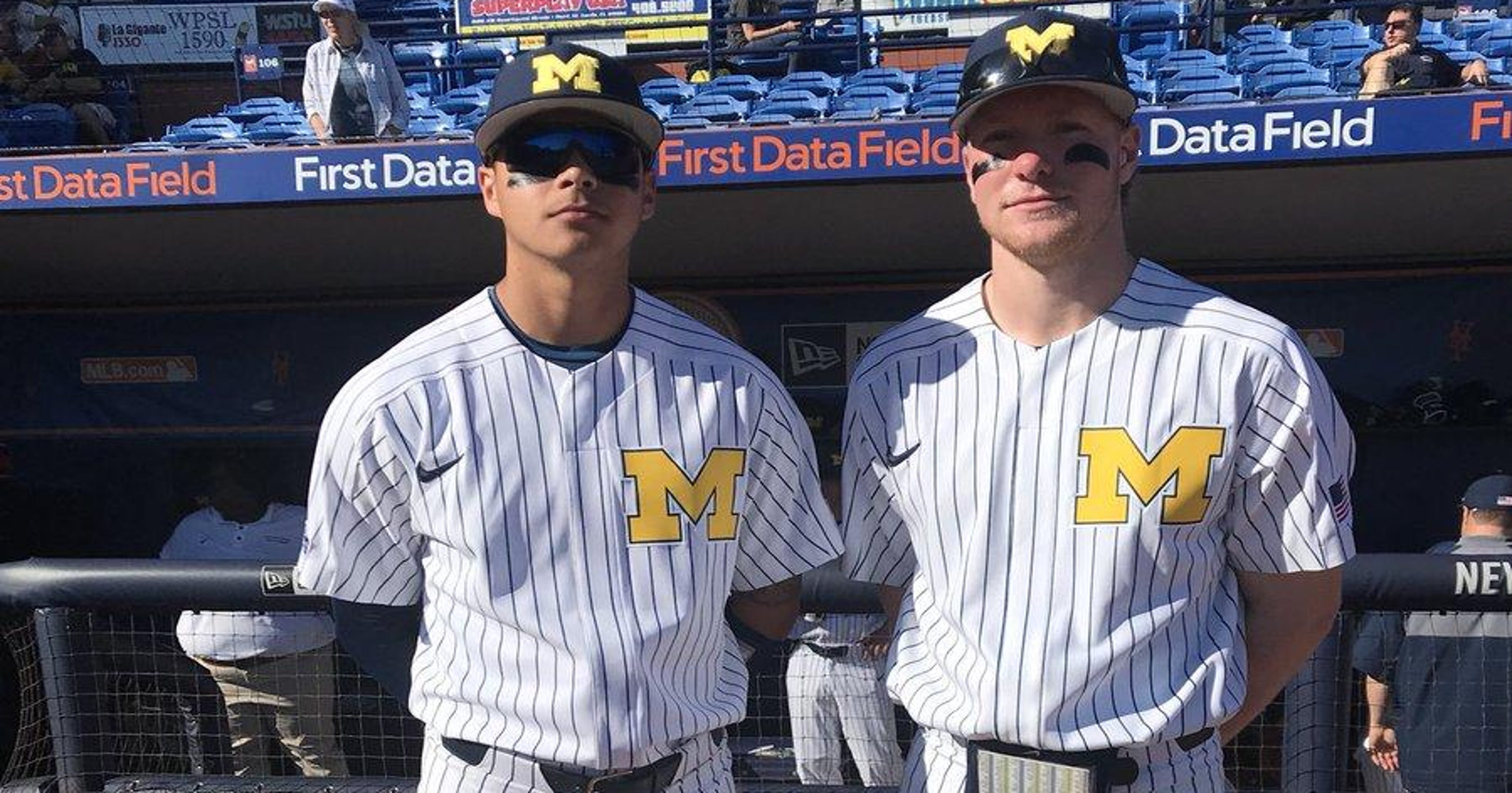 528a44352d6 College notes  Nike outfits UM baseball in pinstripes