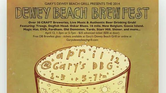 Dewey Beach Brewfest runs Saturday at Gary's Dewey Beach Grill.