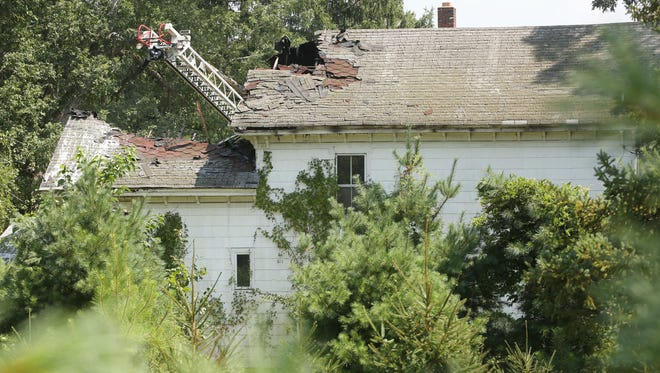 A vacant house at 835 Cross St. in Lakewood was heavily damaged by fire. Lakewood, New Jersey. Monday, August 6, 2018. David Gard /Correspondent