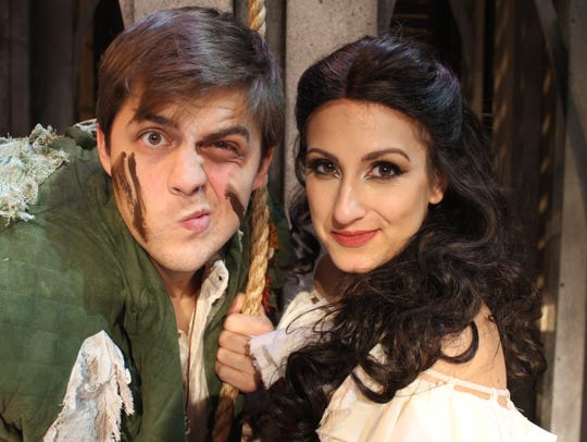 Bobby Cassell (Quasimodo) and Jenna Dallacco (Esmeralda)