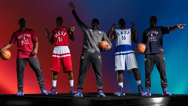 The NBA has unveiled the All-Star uniforms with a salute to Canada, with the game being played in Toronto.