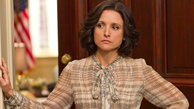 """This undated image released by HBO shows Julia Louis-Dreyfus portraying Vice President Selina Meyer in a scene from """"Veep."""""""