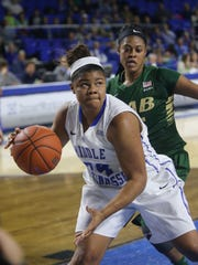 MTSU's Olivia Jones led Conference USA in scoring in 2014-15 with 19.8 points per game.