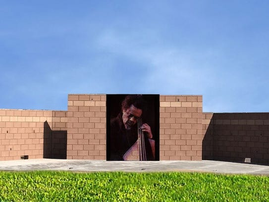 An artist rendition of the mural to be installed at