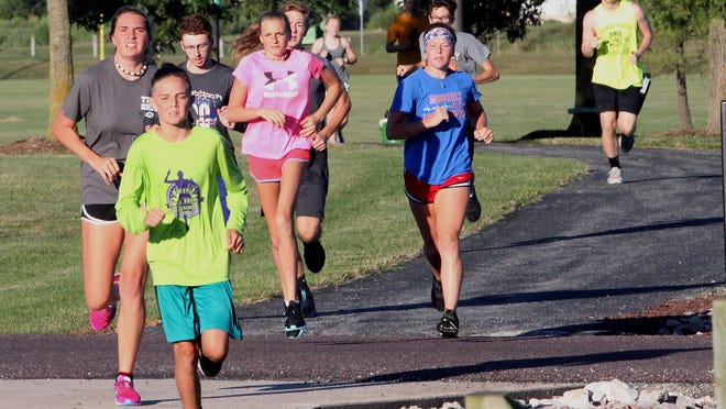 A small group of Moberly High School's 18 cross country runners were working out at 7 a.m. Aug. 20 at its home course located at the Howards Hils Athletic Complex and Rothwell Park. The Spartan harriers are scheduled to open its 2020 fall season competing at Chillicothe on Sept. 4.