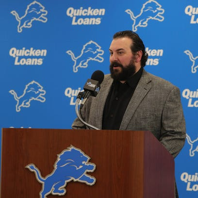 Lions coach Matt Patricia introduced first-round draft
