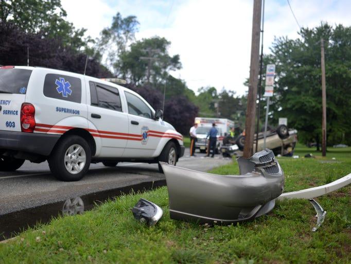 Suv Overturned In Crash
