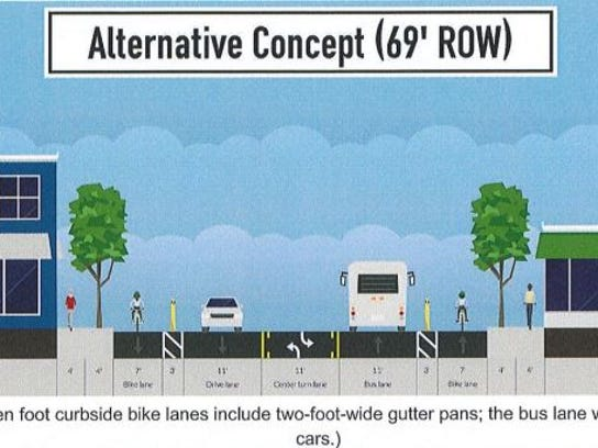 An alternative widening concept by the city that requires
