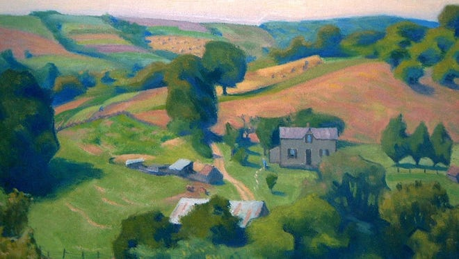 """A Harlan Hubbard painting titled """"Summer, 1934"""" is part of the collection at Behringer-Crawford Museum in Covington."""
