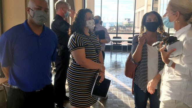 A forum was held at Government Center on Friday, June 26, 2020, between members of the Fall River Police Department and the public to discuss issues of race, bias and policing.