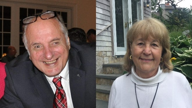 Robert Anthony, left, and  Louise Venden, right, were re-elected to the Provincetown Select Board on Tuesday night.