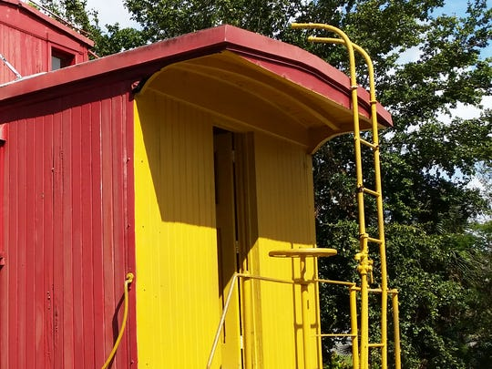 An Atlantic Coast Line caboose is on display at the Naples Depot Museum.