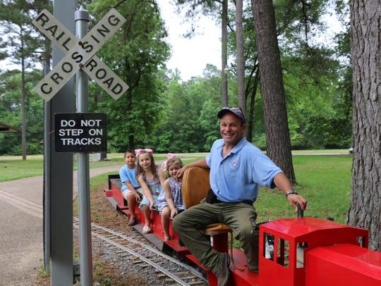 Take a train ride at the American Rose Center in Shreveport.