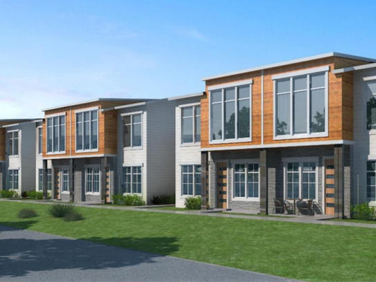 An artist rendering shows the Pearson Point 48-apartment