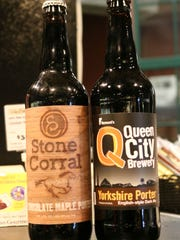 Two Vermont porters with chocolate notes to share with your craft beer lover on Valentine's Day. These two are regulars at City Market in Burlington.