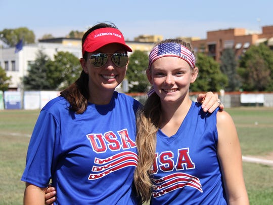 Shippensburg rising sophomore Alexis Alleman, right, poses with Leah O'Brien-Amico. Amico is a three-time Olympic gold medalist and was Alleman's coach this season for an six-game stint in Italy.