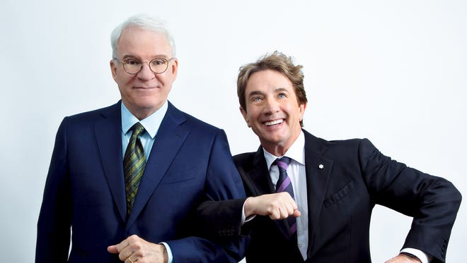 Comedy legends Steve Martin (left) and Martin Short are appearing together at the Riverside Theater Oct. 8.