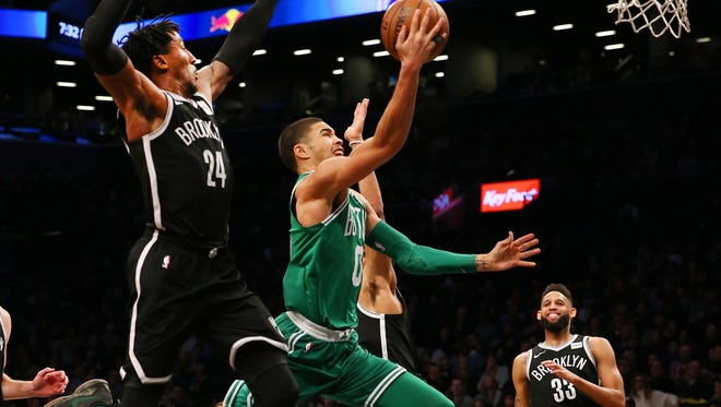 Jayson Tatum had 14 points, six rebounds and six blocks for the Celtics.