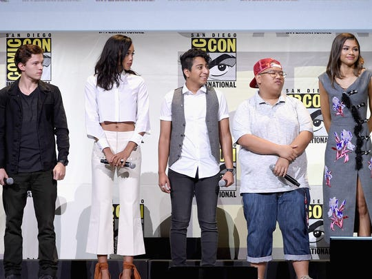 Tom Holland attends the Marvel Studios Comic-Con panel