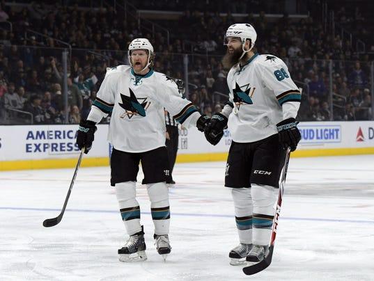 USP NHL: SAN JOSE SHARKS AT LOS ANGELES KINGS S HKN USA CA