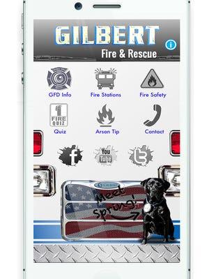 The Gilbert Fire Department's student-built app.